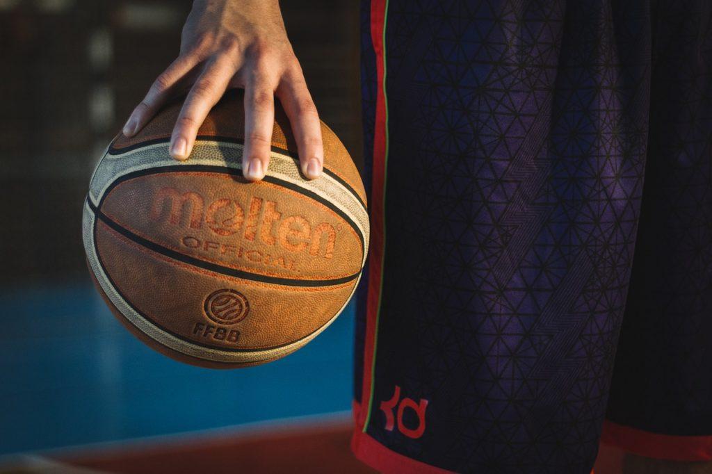 allenamento di basket